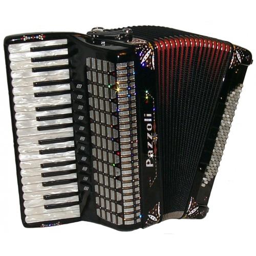 Italiaanse lijn 96 bas accordeon met decoratie