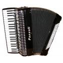 41/120/IV/V/15+7 I-I Pazzoli 120 bas accordeon met cassotto en A Mano stemtongen. Italiaanse lijn