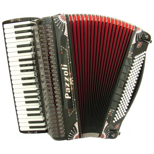Italiaanse lijn 96 bas accordeon met decoratie extreme