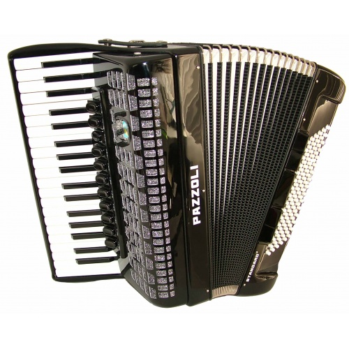 37/96/IV/11+5 Pazzoli 96 bas accordeon met Italiaanse stemtongen. Duitse lijn