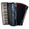 41/120/V/V15+5 Pazzoli 120 bas accordeon met full-decoratie. Italiaanse lijn