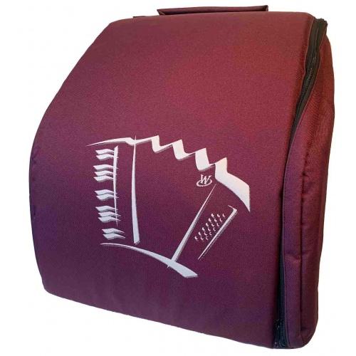 Draagtas voor 48 bas accordeon kleur rood