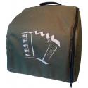 Draagtas voor 72 bas accordeon kleur groen