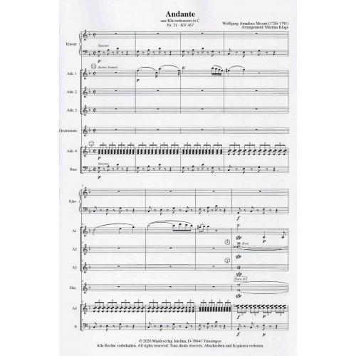 Andante aus Klavierkonzert in C Partituur