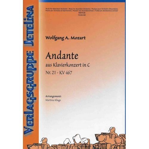 Andante aus Klavierkonzert in C (stemmenset)