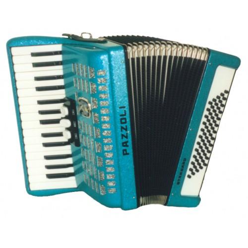 Pazzoli 60 bas accordeons 30/60/II/3 Duitse lijn