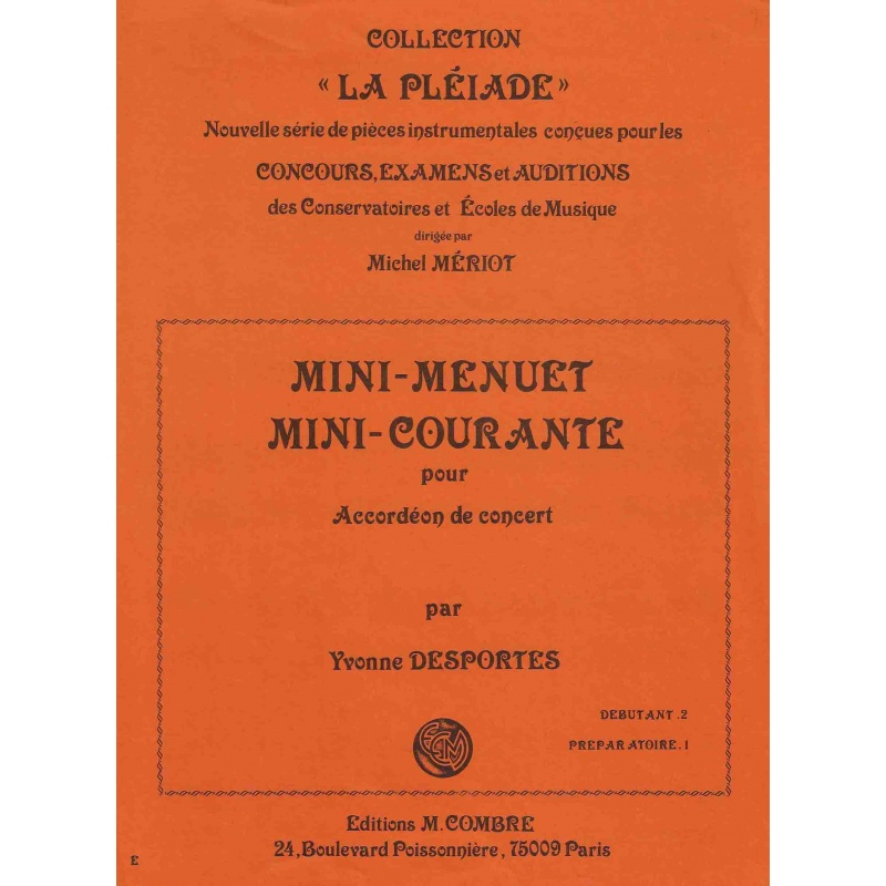 Mini-menuet & Mini-Courante pour accordeon de concert