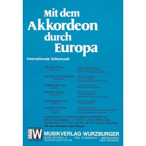 Mit dem Akkordeon durch Europa