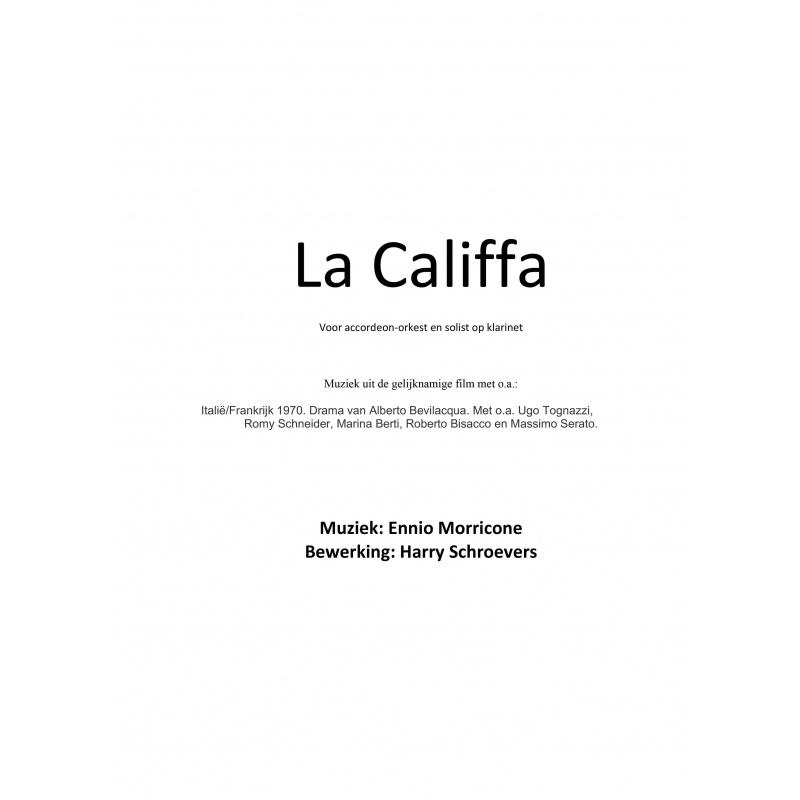 La Califfa (partituur en stemmen)