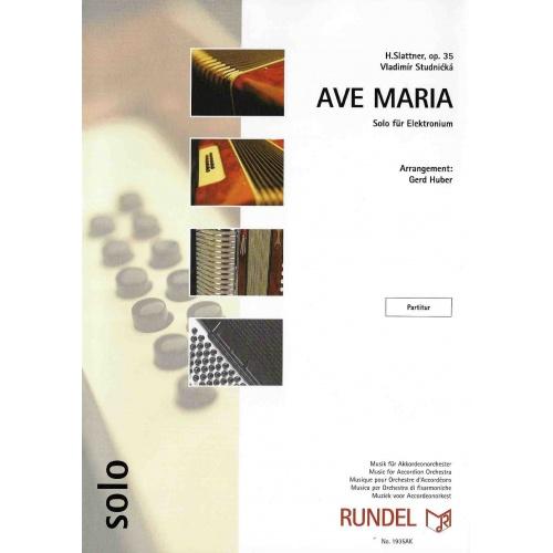 Ave Maria opus 35 (H. Slattner) partituur
