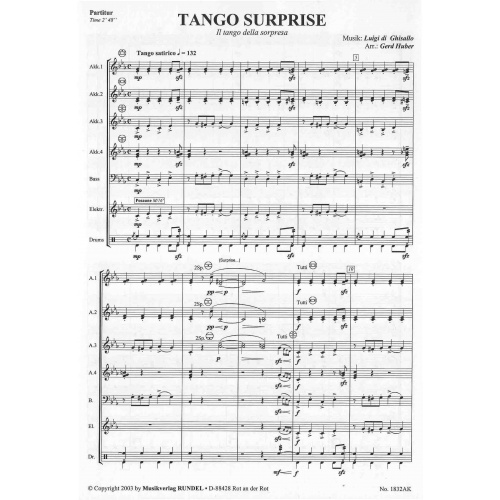 Tango Surprise (partituur)