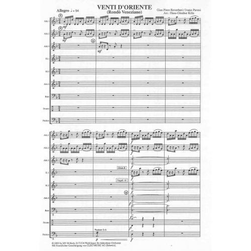 Venti d' oriente (partituur)
