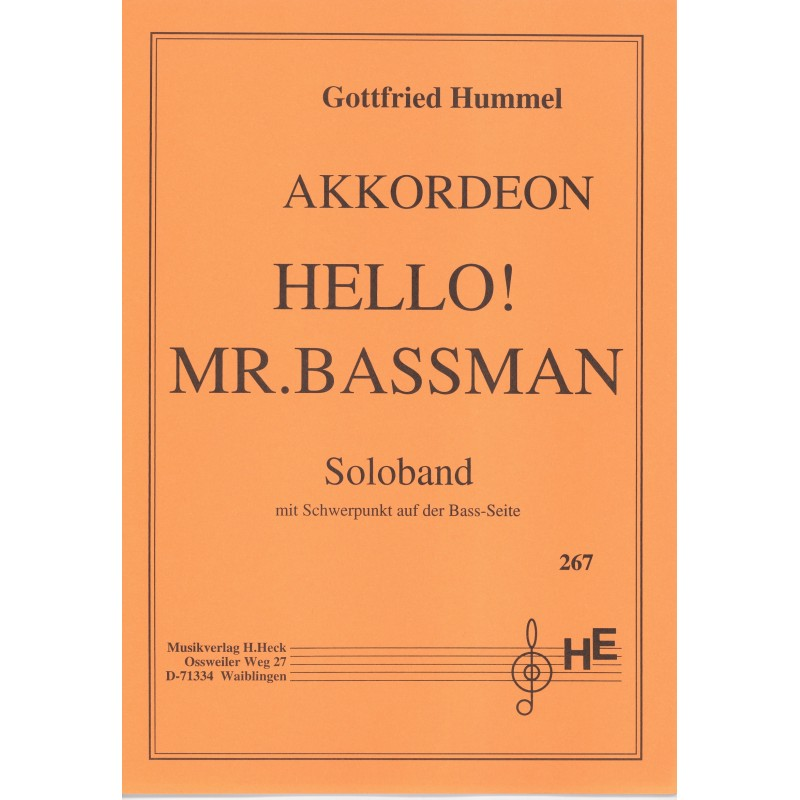 Hello mr. Bassmann