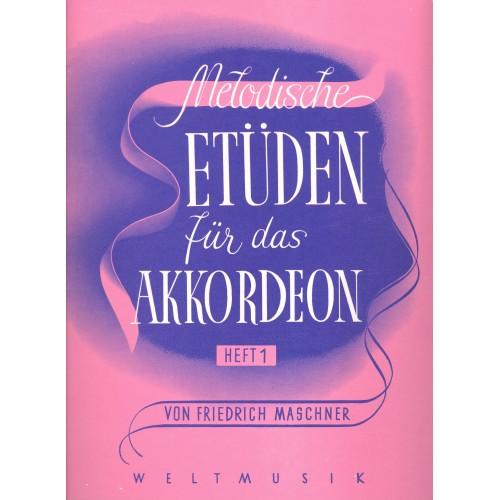 Melodische etüden für das akkordeon deel 1