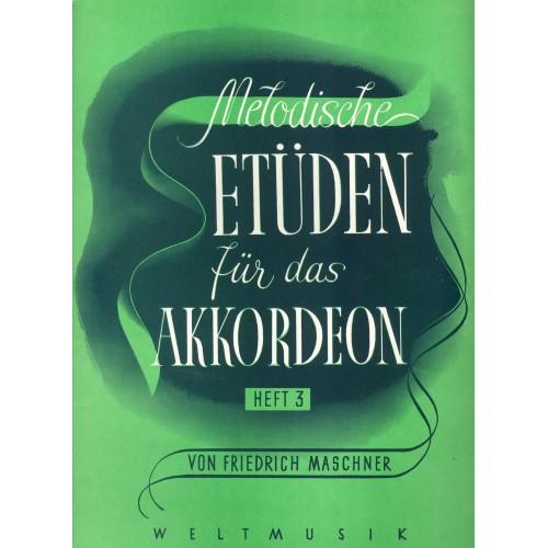 Melodische etüden für das akkordeon deel 3